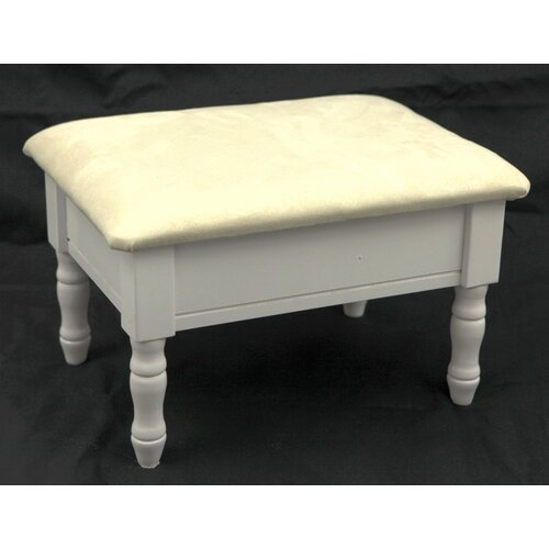Mega Home Queen Anne Style Wood Ottoman