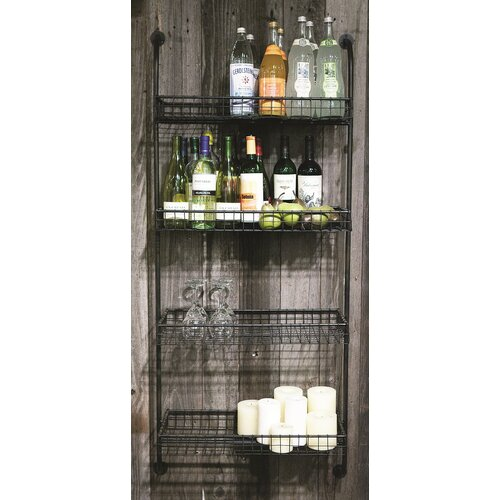 Inspired Home Metal 4-Tier Wall Shelf