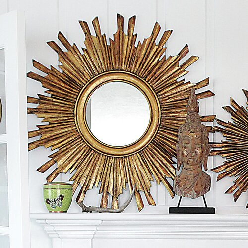 Chateau Round Sunburst Mirror