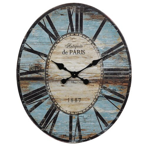 Creative Co Op Oversized Wall Clock Reviews Wayfair