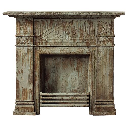 Iron and Tin Fireplace Surround