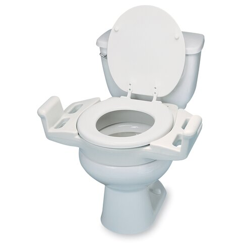Elevated Push-Up Toilet Seat
