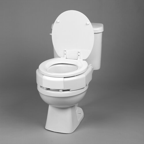 Ableware Removable Hinged Raised Toilet Seat