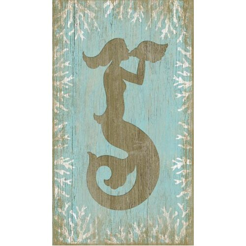 Vintage Signs Wood Mermaid Wall Art By Suzanne Nicoll