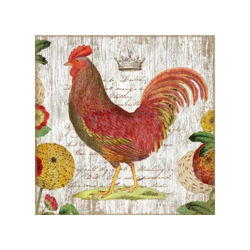 Rooster Wall Art by Suzanne Nicoll Graphic Art Plaque