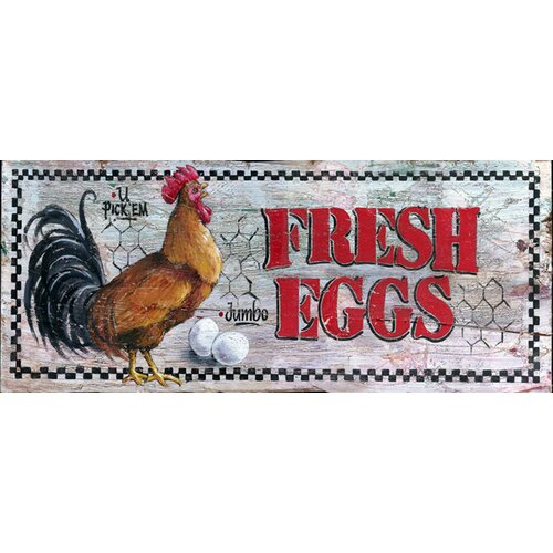 Vintage Signs Fresh Eggs Vintage Advertisement Plaque