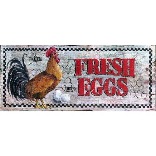 Vintage Signs Fresh Eggs Vintage Advertisement Plaque