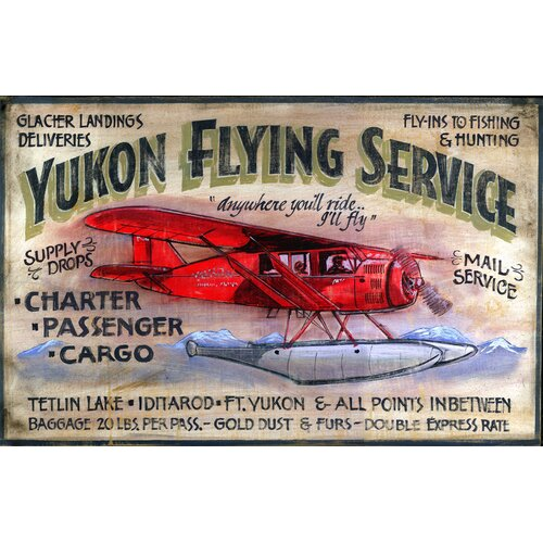 Vintage Signs Yukon Flying Vintage Advertisement Plaque
