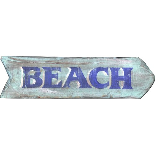 Vintage Signs Vintage 'Beach' Wall Décor