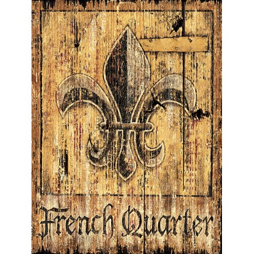 French Quarter Vintage Advertisement Plaque