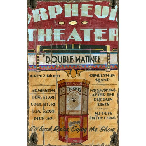 Vintage Signs Orpheum Vintage Advertisement Plaque
