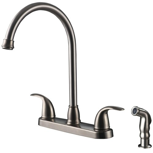 Ultra Faucets Two-Handle Centerset Kitchen Faucet with Matching Side Spray