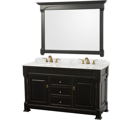 "Wyndham Collection Andover 60"" Double Bathroom Vanity Set"