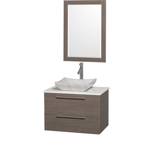"Wyndham Collection Amare 30"" Single Bathroom Vanity Set"