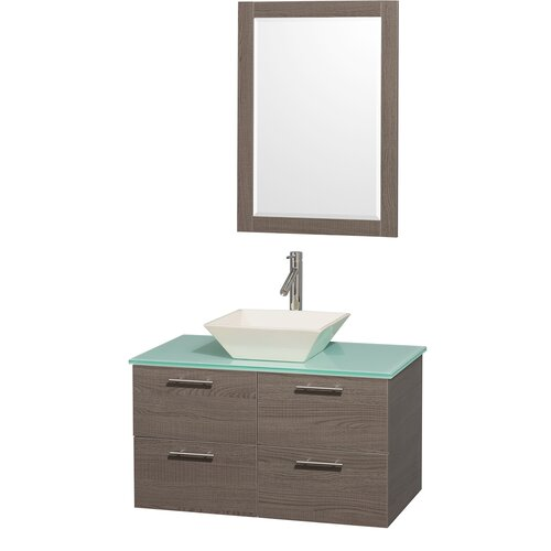 "Wyndham Collection Amare 36"" Single Bathroom Vanity Set"