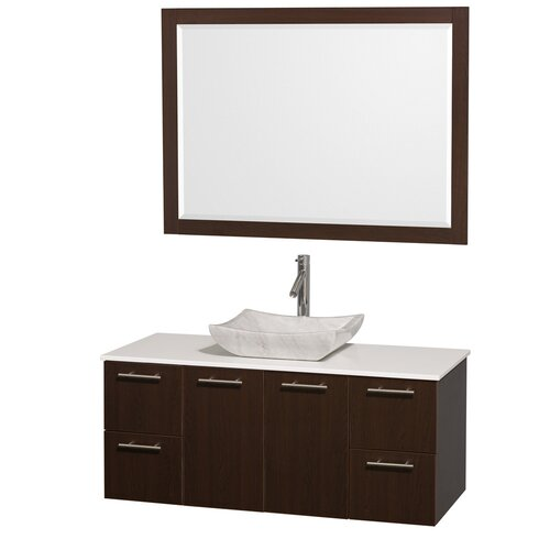 "Wyndham Collection Amare 48"" Single Bathroom Vanity Set"