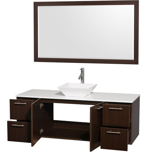 "Wyndham Collection Amare 60"" Single Bathroom Vanity Set"