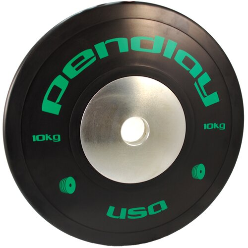 Pendlay 10kg Elite Black Bumper Plates in Colored Ink