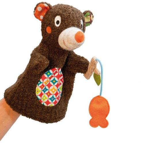 Woodours Baby Bear Hand Puppet, Brown