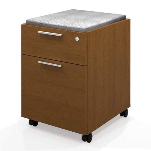 Bestar Pro-Linea 2-Drawer Mobile Pedestal