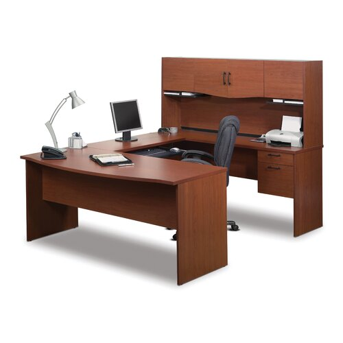 Bestar Harmony U-Shape Desk Office Suite