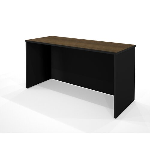 Bestar Pro-Concept Desk Shell in Milk Chocolate Bamboo and Black