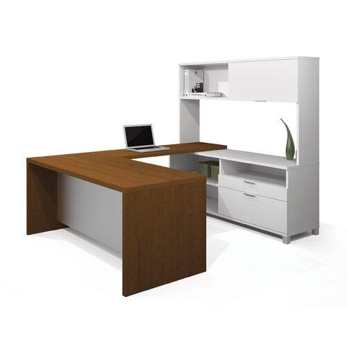 Bestar Pro-Linea U-Shape Desk Office Suite