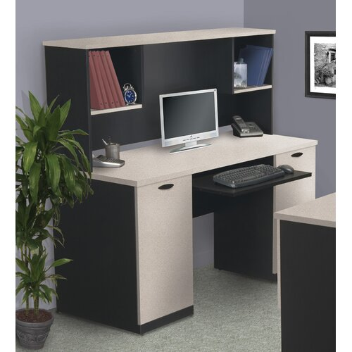 Bestar Hampton Computer Desk and Hutch
