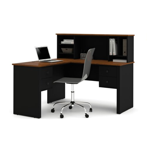 Bestar Somerville Corner Executive Desk with Hutch