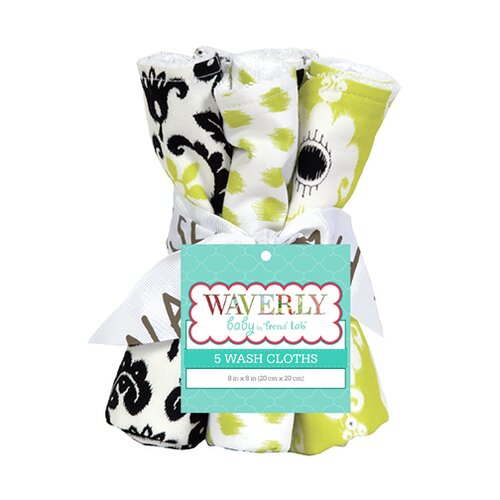 Waverly Rise and Shine Bouquet 5 Piece Wash Cloth Set