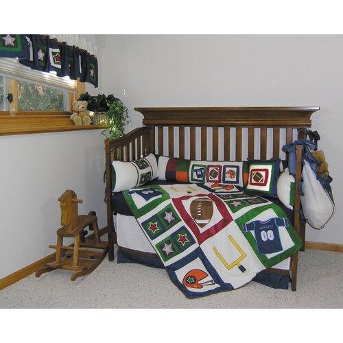 Trend Lab Football Flannel Crib Sheet