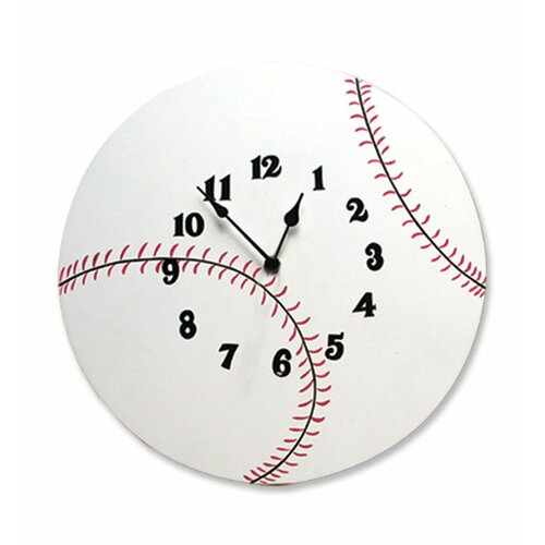 "Trend Lab Baseball 12"" Wall Clock"