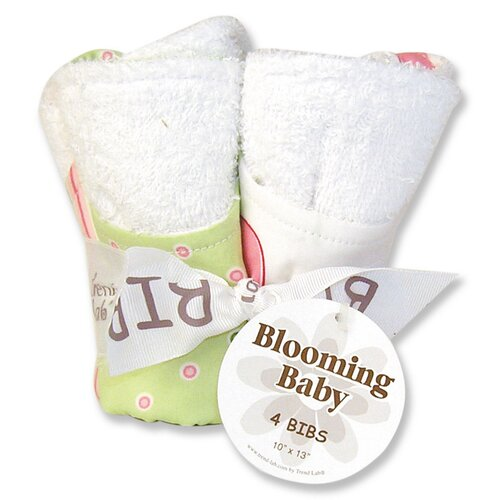 Trend Lab Tulip Blooming Bouquet 4 Pack Bib Set