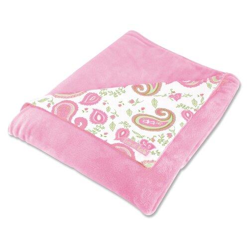 Trend Lab Paisley Park Reversible Velour Baby Blanket