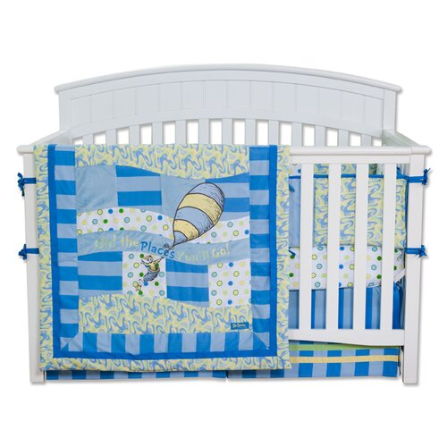 Trend Lab Dr. Seuss Oh The Places You''ll Go 4 Piece Crib Bedding Set