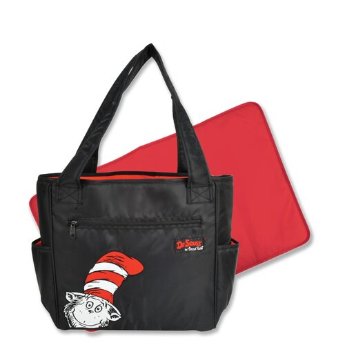 Trend Lab Dr Seuss Cat in the Hat Tulip Tote Diaper Bag