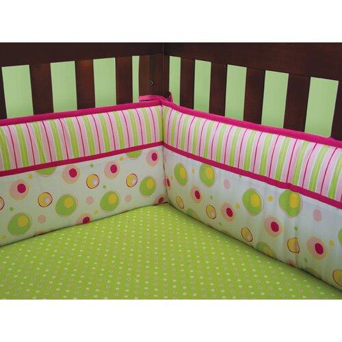 Trend Lab Splash Pink 4 Piece Crib Bumper Set