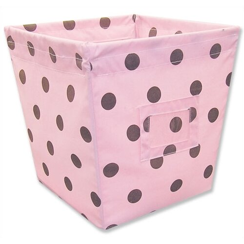 Trend Lab Maya Medium Fabric Storage Bin in Dots