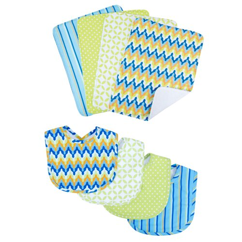 Trend Lab Levi Bouquet Bib and Burp Cloth Set