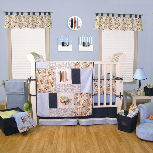 Surf's Up 4 Piece Crib Bedding Set