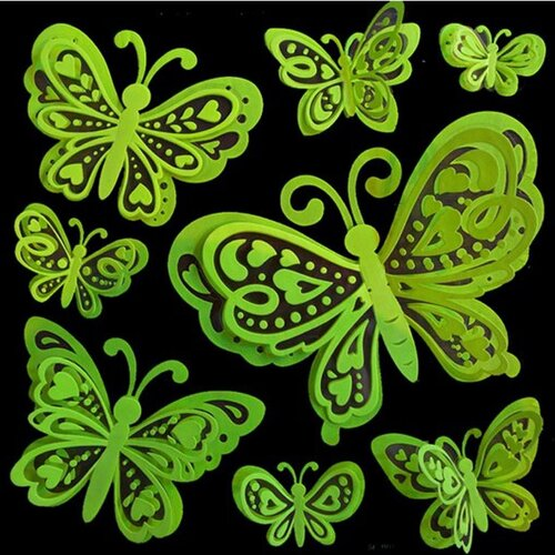 Room Decor Glow in the Dark Butterfly 3D Wall Decal