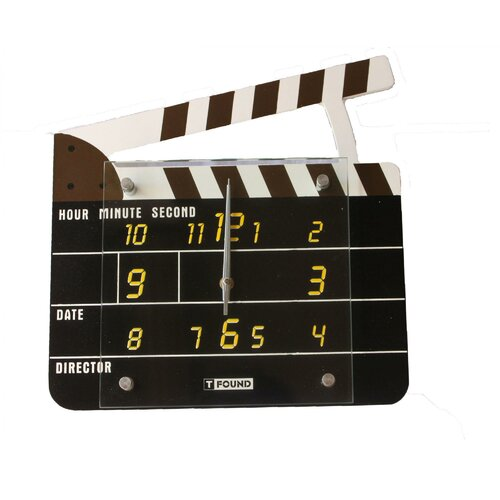 "Creative Motion 11.81"" Clap Board Wall Clock"