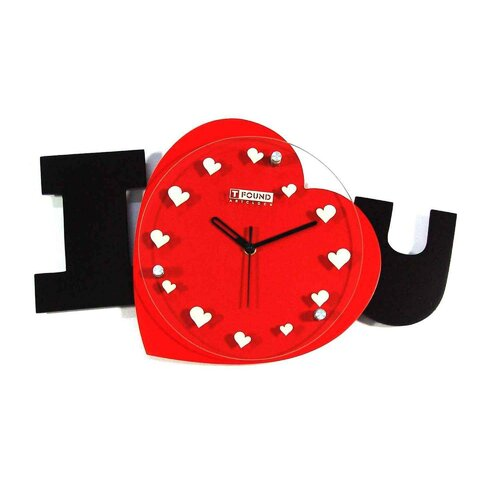 Creative Motion I Love U Wall Clock