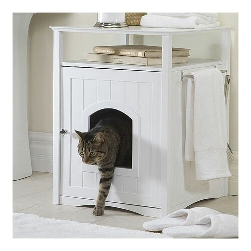 Merry Products Nightstand Pet Crate & Litter Box Enclosure