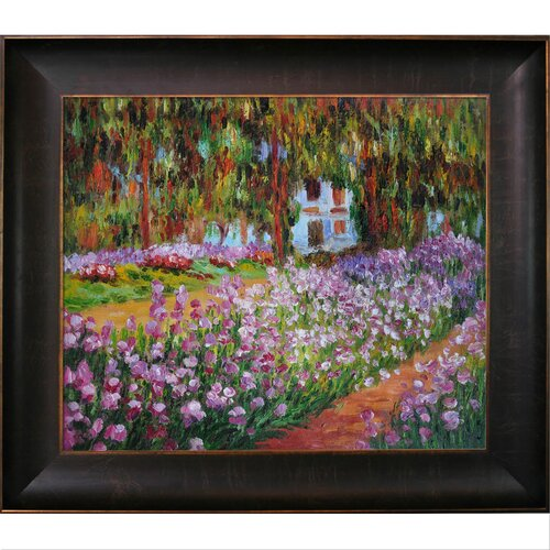 Tori Home Garden at Giverny by Monet Framed Original Painting