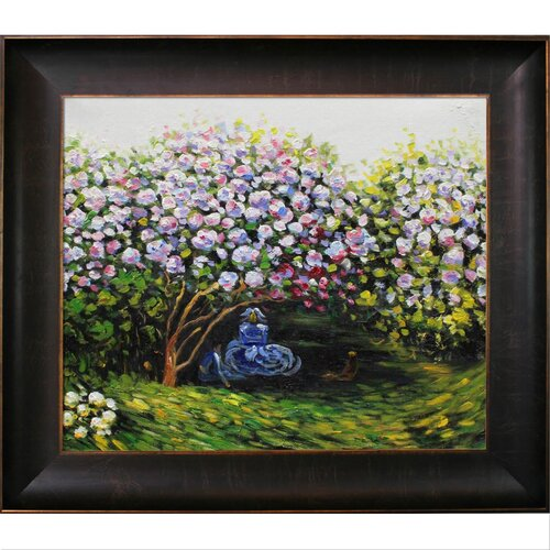 Resting Under the Lilacs by Monet Framed Original Painting