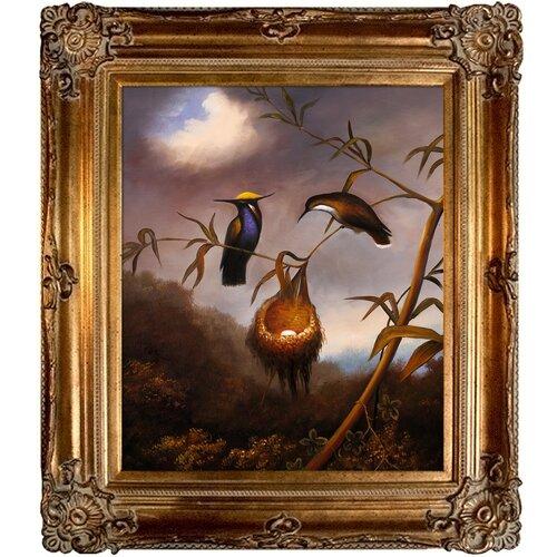 Heade Black Breasted Plovercrest by Johnson Framed Original Painting