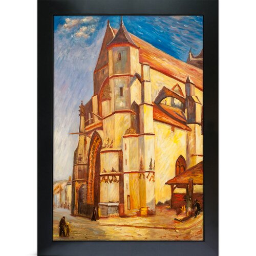 The Church at Moret in Morning Sun by Alfred Sisley Framed Original Painting