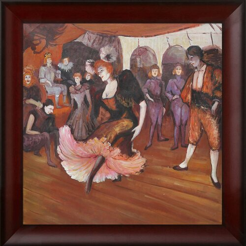 Marcelle Lender Dancing in the Bolero in Chilperic by Toulouse Lautrec Framed Original Painting
