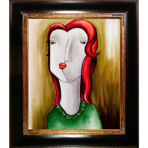 Tori Home Girl with red hair Nguyen Framed Original Painting